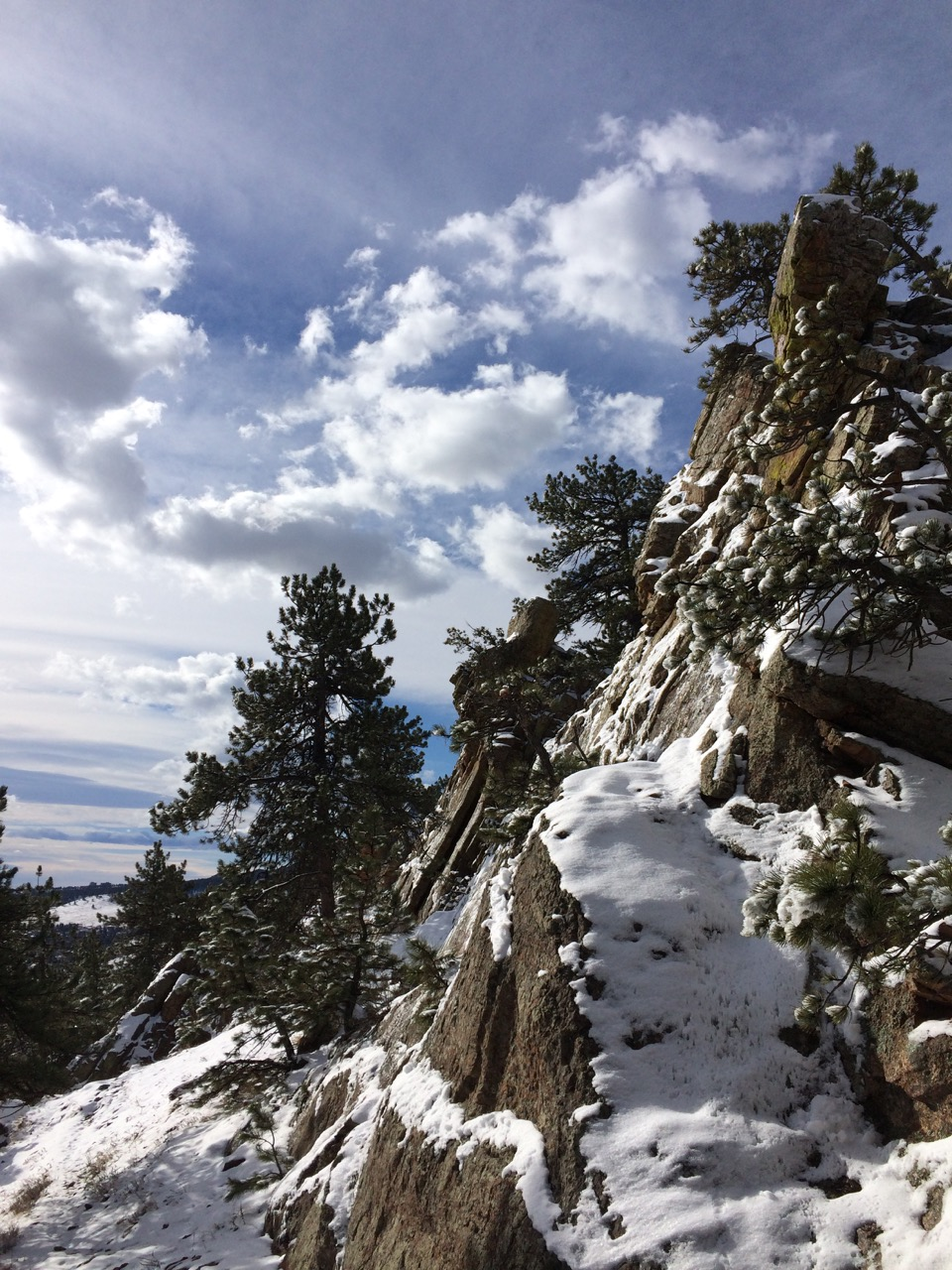 Mount Sanitas in Winter