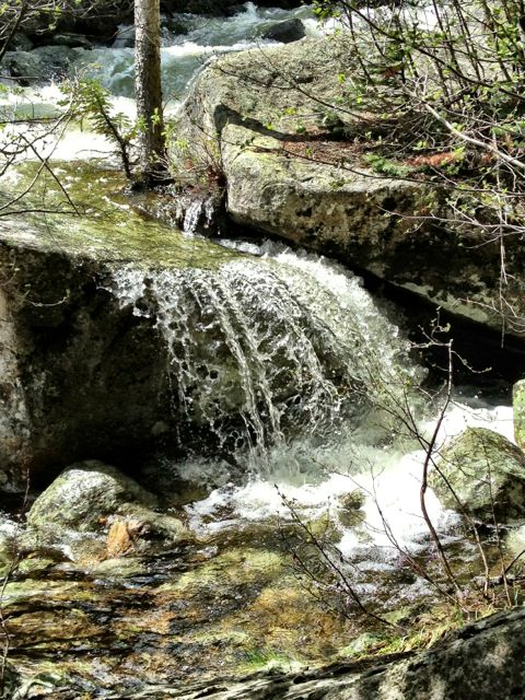 High Mountain Waterfall