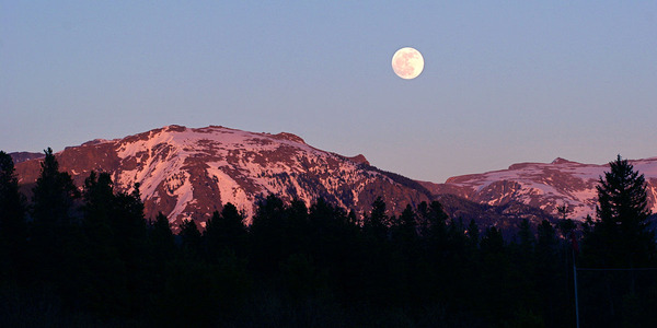 Rocky Mountain Full Moon